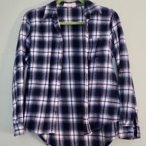 Love Notes Navy Blue Flannel